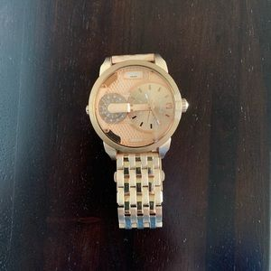 Women's rose gold Diesel watch